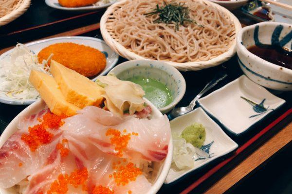 磯丸水産 鯛丼そばセット