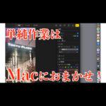 【WaznFilm更新】余計なアプリを入れないでMacで写真編集自動化【Automator】